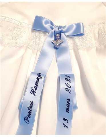 Dopklänningen med lång kjol