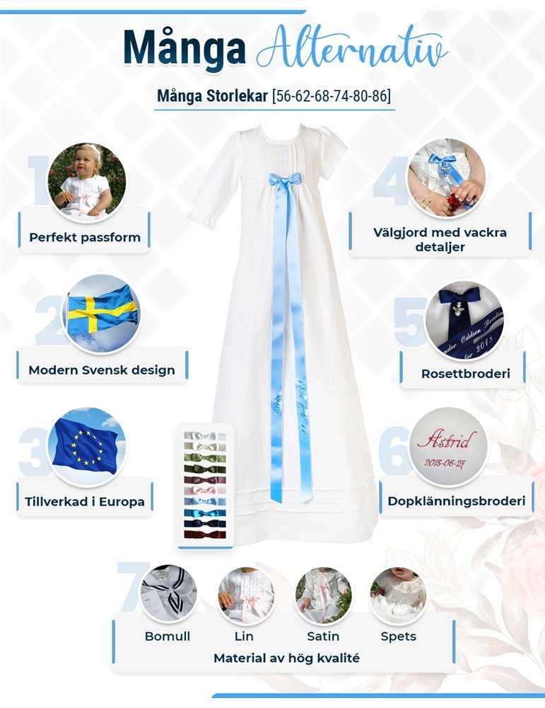 Dopklänning med ljuvligt lång kjol