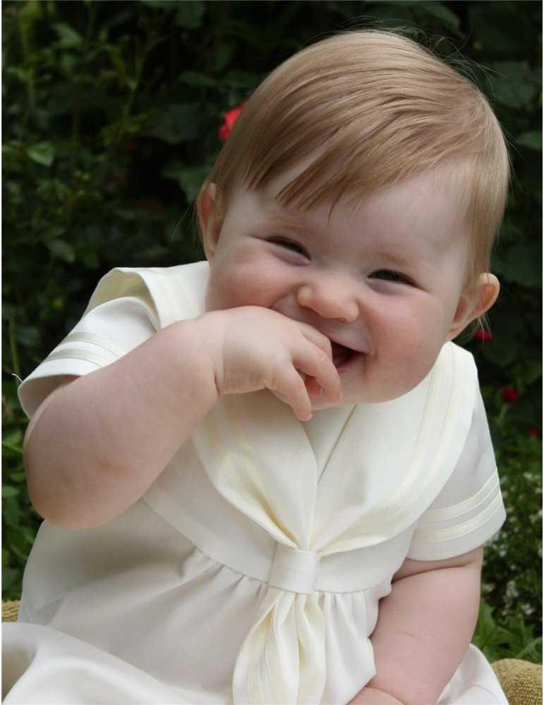 klassisk Dopklänning i off white för pojkar