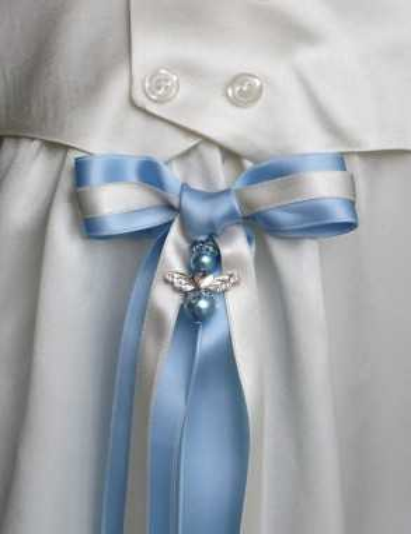 Dopklänning med handgjort doprosett