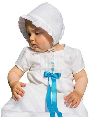 lyxig lång Dopklänning