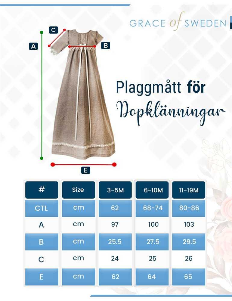 Dopklänning med spets
