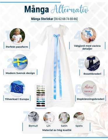 vit pojk-dopklänning med väst