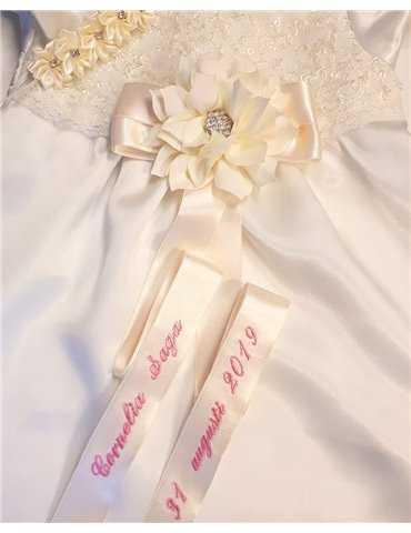 romantisk Dopklänning i antikvitt