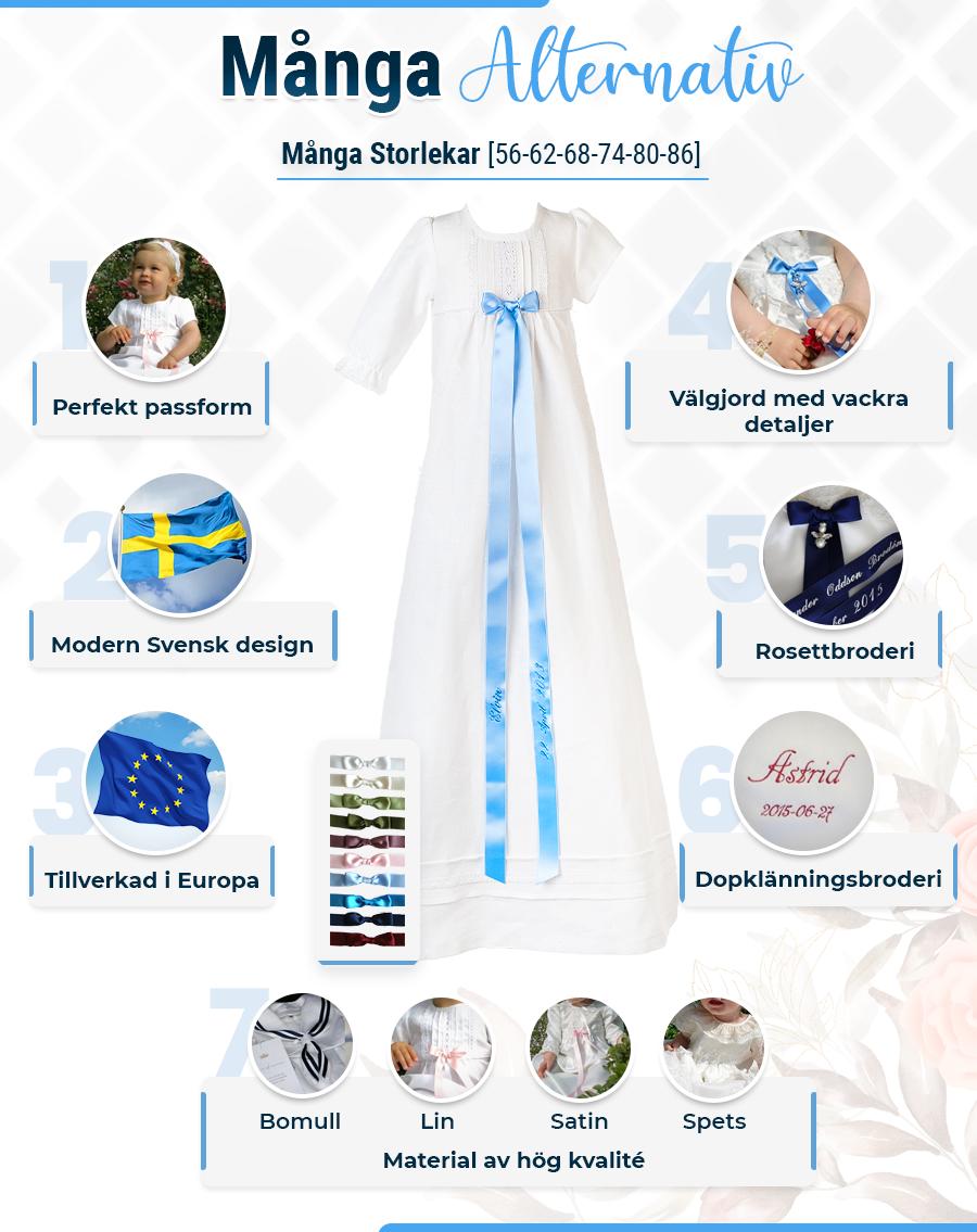 Dåbskjole Grace-Lace kjole i blonder