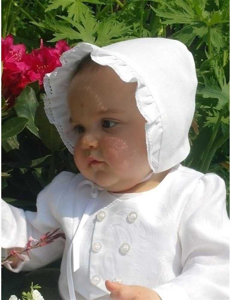 linne dopklänning för flickor och pojkar
