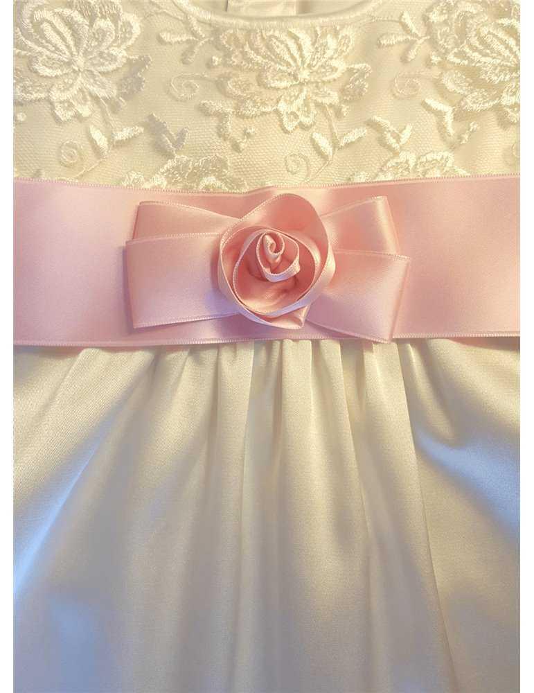 Dopklänning i lin för flickor