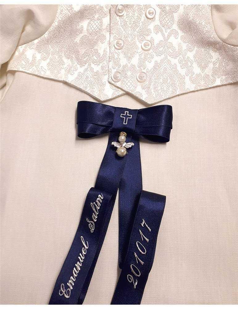 lång Dopklänning med ballerinakjol