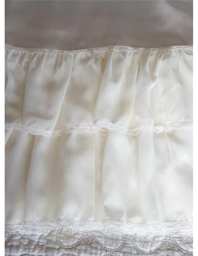 Diadem Handgjord blomma för dopet