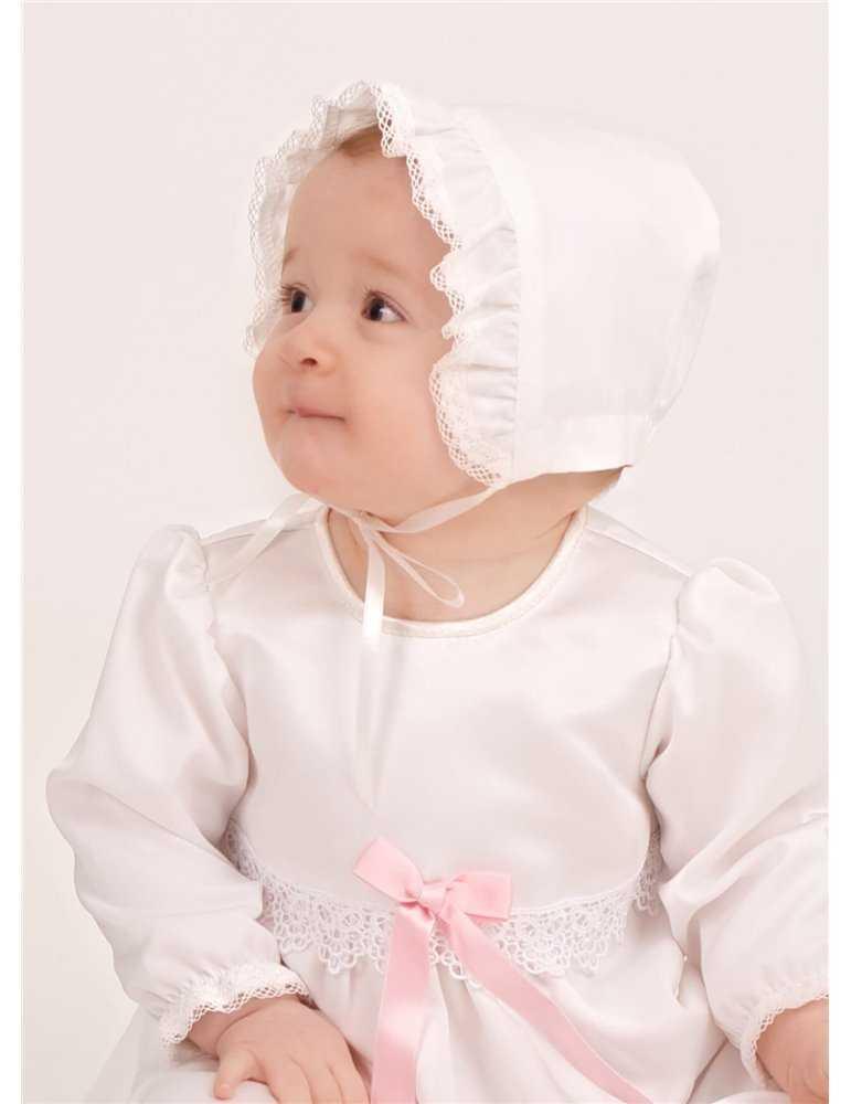 Dopklänning i helbild med kort ärm